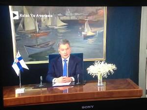 VIIKON 1 KYSYMYS: Kuka on maalannut presidentti Sauli Niinistön uuden vuoden puheen taustalla näkyvän maalauksen?