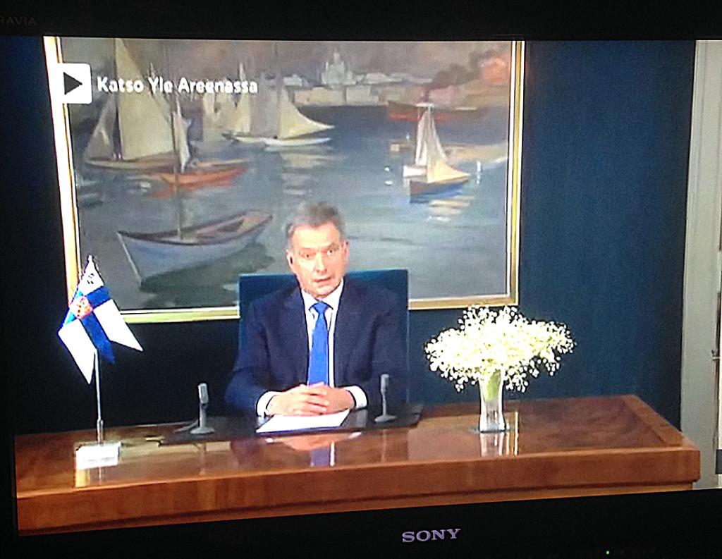 Presidentti Sauli Niinistön uudenvuoden puhe vuonna 2017.