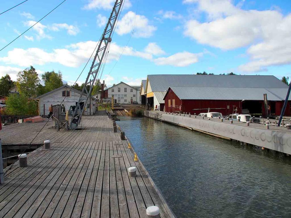 Tältä telakka näytti vuonna 2013, jolloin telakan kohtalo oli vielä aikalailla auki, vaikka suunnitelmia oli jo tehty telakan säilyttämiseksi ja kehittämiseksi.