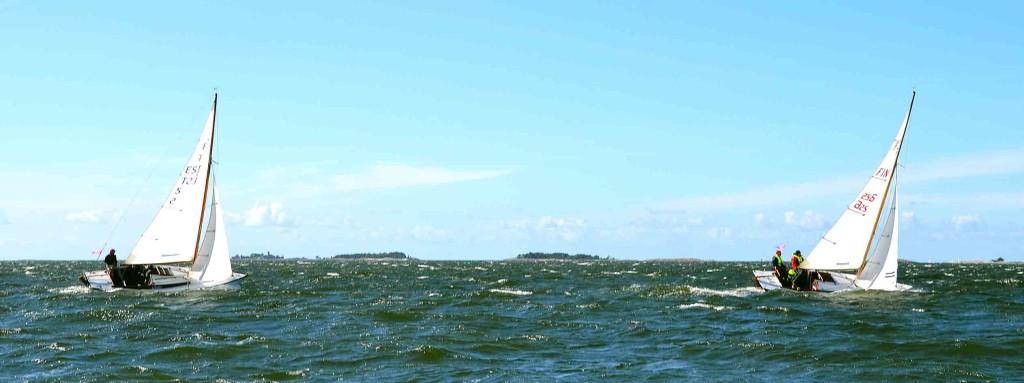 Kansanveneiden ensimmäisen palkinnon voitti Mikk Köösel Virosta Greta (EST 5), kuvassa vielä kakkosena.