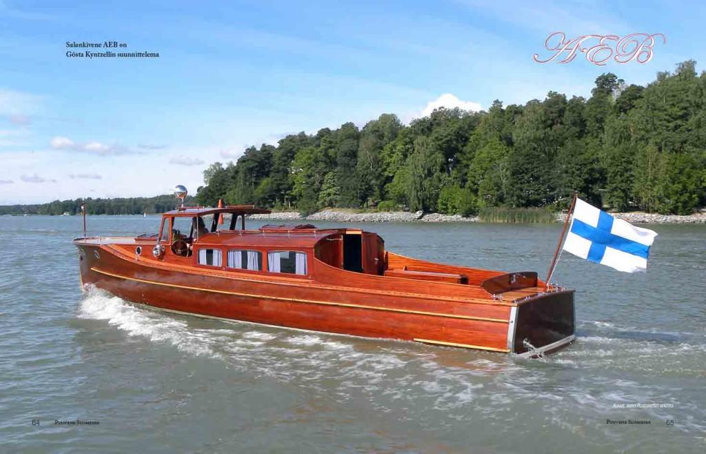 Harvinainen salonkivene on pelastettu alkuperäiseen loistoon.