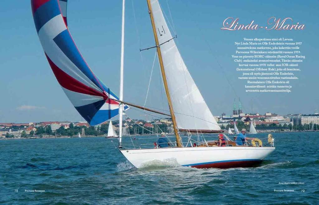Kirjassa esitellään purjeveneitä matkaveneistä jolliin.