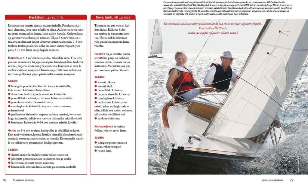 Purjehtimen on turvallista ja mukavaa niin kilpailuissa kuin lomallakin, kun opettelee purjeiden säädöt eri tuulen voimakkuuksille.