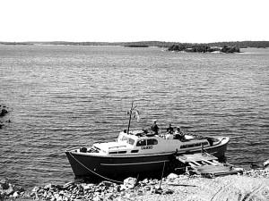 Veneenveistäjä Risto Kristeri ja Salmisaaren veistämö