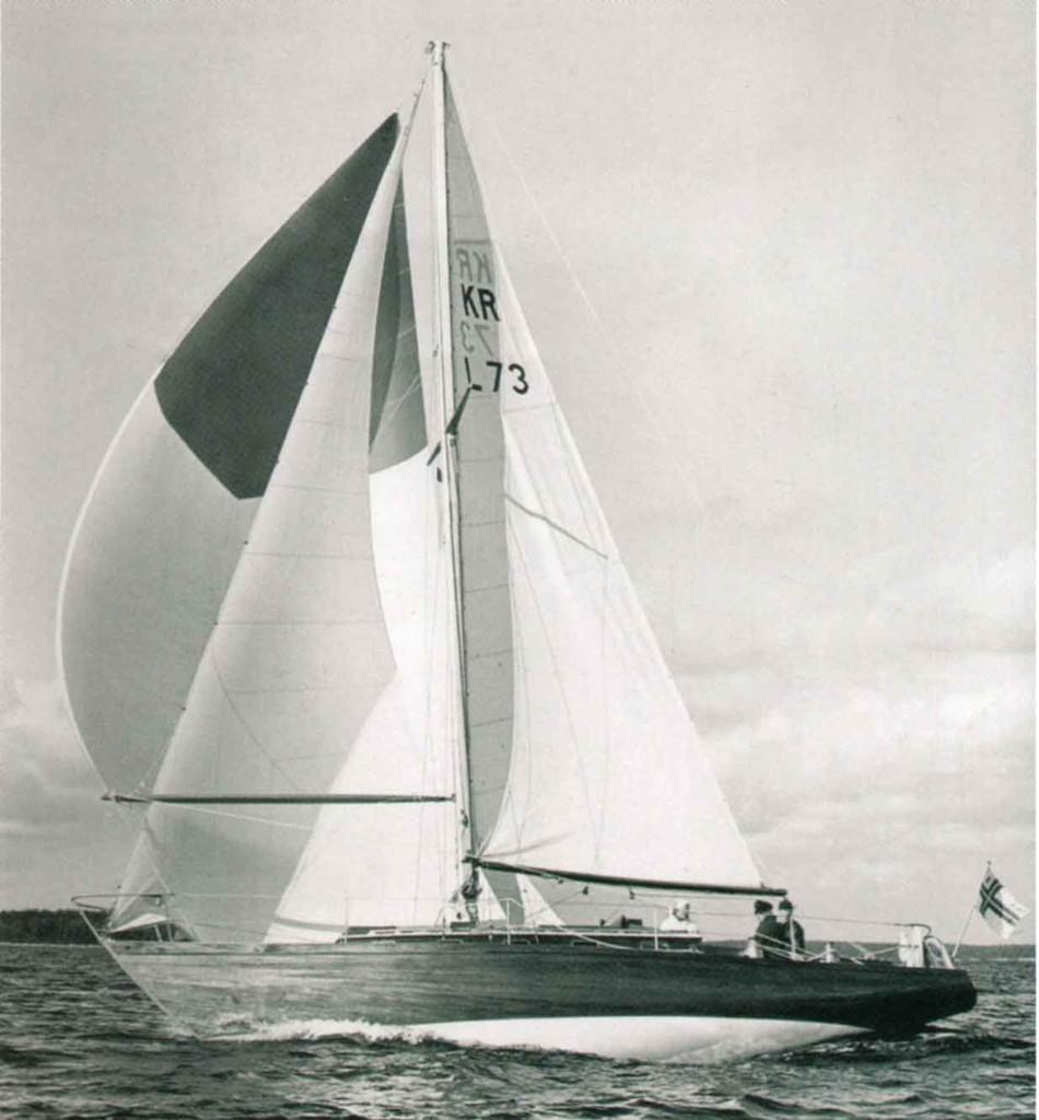 Huh-Mari vauhdissa. Kuva otettu ennen kuin vene siirtyi Lasse Pöystin omistukseen. (Kuva: Juhani Sundqvist)
