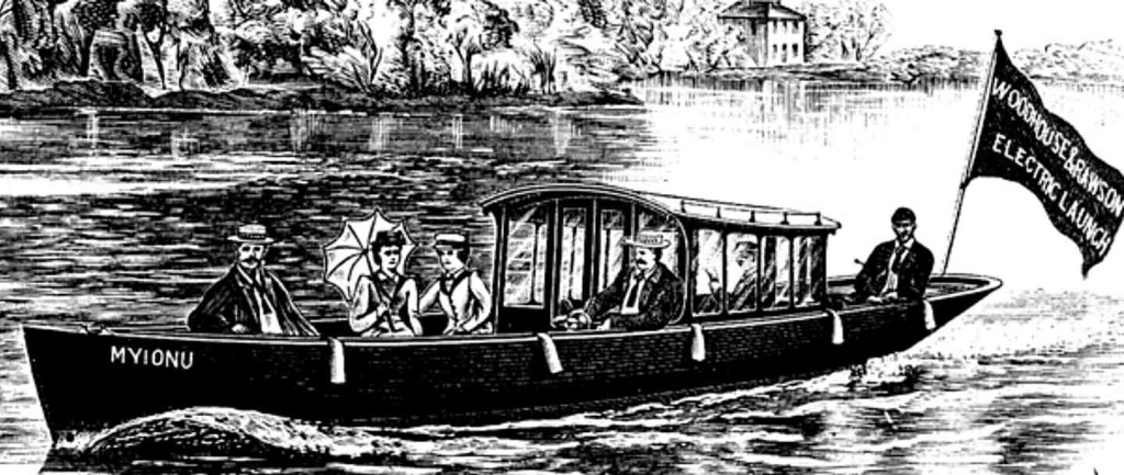 Mary Gordon kuljetti matkustajia Thames-joella. Niillä pystyttiin ajamaan noin kaksi tuntia kahdeksan kilometriä tunnissa.