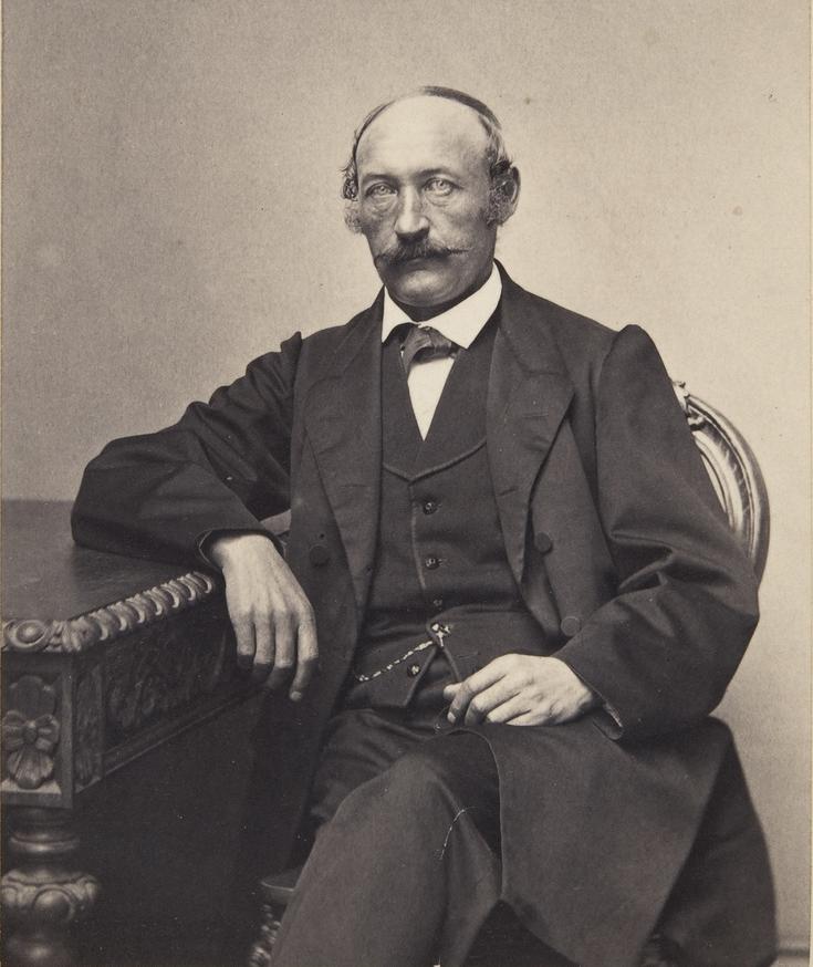Taiteilija Johan Knutson noin vuonna 1890.